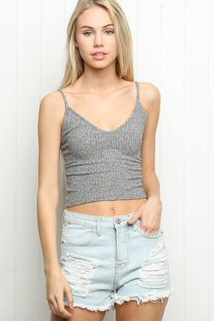 $28.00  Brandy ♥ Melville | High-Rise Distressed Denim Shorts - Bottoms - Clothing