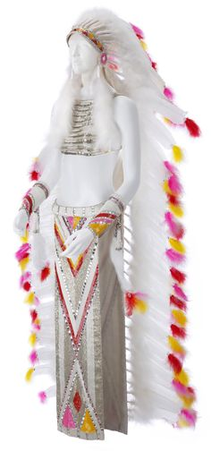 "Cher ""Halfbreed costume by Bob Mackie Rock And Roll Museum, Cher Costume, Hollywood Gowns, Mack Attack, Dances With Wolves, 60s And 70s Fashion, Retro Girls, Sweet Pic, Dress Sketches"