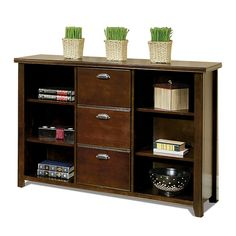 Three-Drawer File with Bookcase $730
