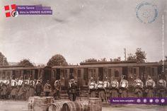 """""""Mobilisation, la Haute-Savoie aux fronts"""" : départ d'un bataillon du 30ème Régiment d'Infanterie à Thonon-les-Bains en août 1914.Cliché Léon Quiblier #centenaire1418"""
