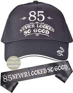 85 Never Looked So Good Birthday Hat & Sash Birthday Gag Gifts, 85th Birthday, Birthday Book, Birthday Gift Baskets, Birthday Photos, Birthday Shirts, Birthday Ideas, Gifts For Old Men, Birthday Coffee