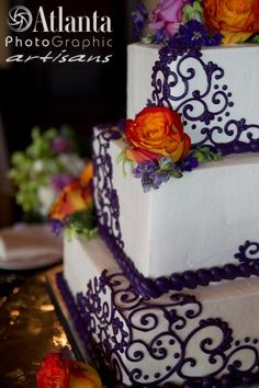 A square wedding cake at my nuptials