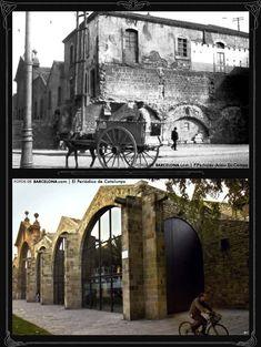 Atarazanas/Drassanes  Foto antigua:1904 / Foto actual: 2007 En la Edad Media, a instancias de los reyes Jaume I y Pere III, se establecieron en Barcelona unas grandes atarazanas para la construcción de barcos. Después de la guerra de sucesión, los edificios, ejemplos de la arquitectura civil gótica catalana, se desvirtuaron al convertirlos en maestranza y cuartel de artillería.  Con la reconstrucción de las atarazanas de Barcelona, cedidas a la ciudad el año 1936, se pudo descubrir encantos…