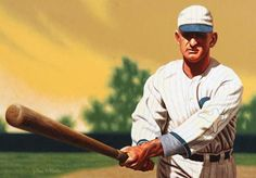 """Shoeless Joe and Black Betsy"" Joe Jackson Painting by Arthur K. Miller"