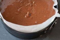 Koolhydraatarme Chocolade Cheesecake met Pecan Crunch - WayMadi Keto Cheesecake, Pecans, Muffins, Pie, Desserts, Food, Torte, Tailgate Desserts, Muffin