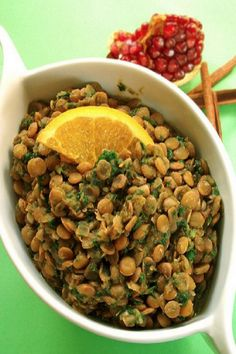 Moroccan French Lentils - Get Waisted Lentil Recipes, Veggie Recipes, Whole Food Recipes, Dog Food Recipes, Cooking Recipes, Healthy Menu, Healthy Lunches, Healthy Eating, Going Paleo