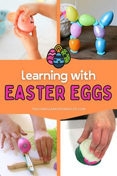 Wondering what to do with all those leftover plastic eggs? Here are 10+ Easter ideas that build a variety of skills! #Easter #spring #eggs #learningactivities #preschool #toddlers #AGE2 #AGE3 #AGE4 #teaching2and3yearolds Easter Activities For Kids, Spring Activities, Color Activities, Easter Crafts For Kids, Holiday Activities, Easter Ideas, Preschool Activities, Egg Shakers, Plastic Eggs