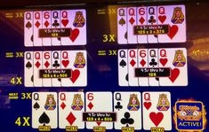 What I call a lightning strike. Chances of being dealt quads are one in 4165. Here, I also had multipliers on three of the five hands. Horseshoe Casino 11 April 2018.