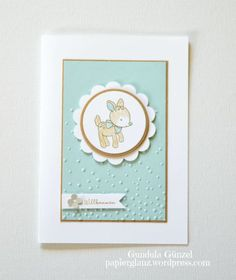 Karte für Jungen Baby Cards, Kids Cards, Stampin Up, Congratulations Baby, Animal Cards, Baby Scrapbook, Happy Baby, Beautiful Babies, Card Stock