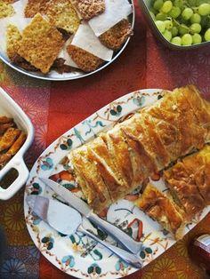 Salmon and rice pie