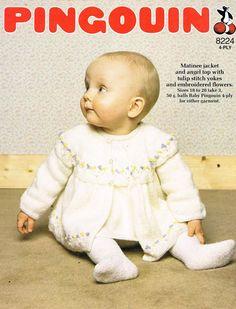 Free Knitting Pattern Cowl : Hayfield 1551 baby matinee coat vintage knitting pattern vintagecraftpatter...