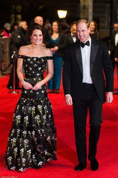 The royals are in the building: British royalty joined Hollywood's kings and queens as the Duke and Duchess of Cambridge attended where they were met by loud cheers at the Royal Albert Hall in London, a short drive away from their Kensington Palace home. William is to present the fellowship award to comedian Mel Brooks at the glittering ceremony