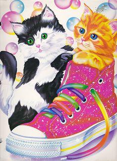kittens inspired by lisa frank! Lisa Frank Stickers, 80 Cartoons, 90s Kids, Childhood Memories, 90s Childhood, Cat Art, Cute Wallpapers, Cute Animals, Drawings