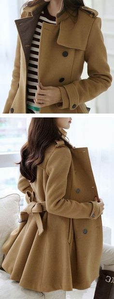 Camel Bow Back Coat