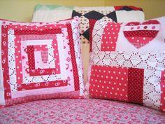artesanato com patchwork almofada
