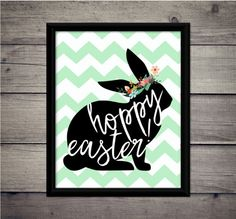 Hoppy Easter Chevron  Spring Has Sprung by ThoughtWorksByAbby