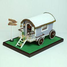 DIY Bus Model Dollhouse Wooden Furniture Kits LED Music Creative Birthday Gift    eBay