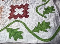"""Antique Fabric Friendship Quilt Signed in Each Block 73"""" x 83"""" Vtg 