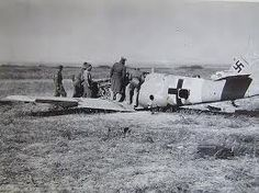 WW2 Shot down Nazi aircraft remains.