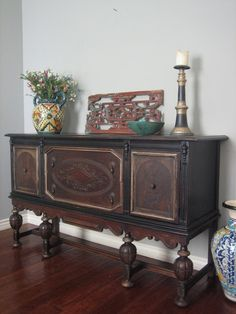 European Paint Finishes: Old World Sideboard ~ Refurbished Furniture, Paint Furniture, Repurposed Furniture, Furniture Projects, Furniture Makeover, Furniture Design, Furniture Websites, Furniture Online, Classic Furniture