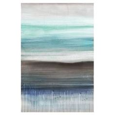 "Canvas and wood giclee print with an abstract shoreline motif.   Product: Wall artConstruction Material: Wood and canvasFeatures: Ready to hangDimensions: 36"" H x 24"" W x 1.5"" D"