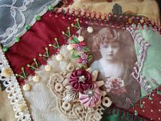 I ❤ crazy quilting, beading & ribbon embroidery . . . CQJP2013 March ~By Iris L., Brazil