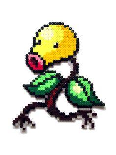 Bellsprout Pokemon perler sprite de perle par AenysBeadArt sur Etsy