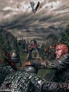 VIKINGS the Series, Ragnar Lothbrok and Floki
