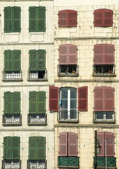 Windows of Bayonne - France