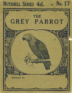 Vintage poster parrot African Grey like my Otto