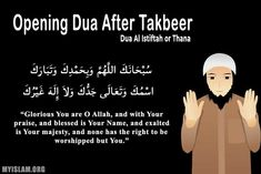 Learn the opening dua for salah after takbeer e tahreema (saying Allahu akbar) to start the islamic prayer. This is also known as Dua Al Istiftah or Thana. Islamic Prayer, Islamic Teachings, Opening Prayer, Prayer For Protection, Doa, Quran, Worship, Allah, Prayers