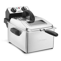 Cuisinart Deep Fryer, 4 quart, Stainless Steel - Kitchen and Home Products Library Fried Macaroni And Cheese, Best Deep Fryer, Homemade Fried Chicken, Crispy Chicken, Bbq Chicken, Chicken Recipes, Electric Deep Fryer, Best Air Fryers, Game Day Snacks