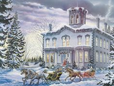 """""""Christmas at Kilbride"""" by Lance Russwurm"""