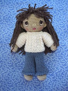 (tutorial) Basic Amigurumi Doll with round legs