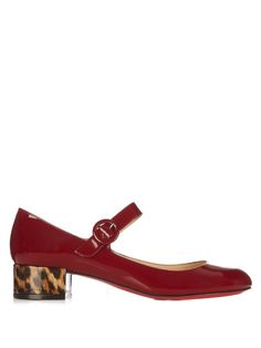 Christian Louboutin Dolly Birdy 30mm patent-leather pumps