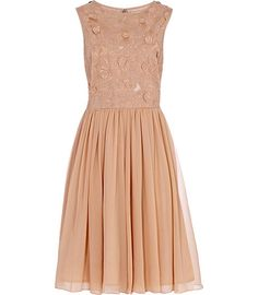 very lovely, ballet pink and super flowy.  Kana Nude Embroidered Top Dress by REISS London, reissonline.com