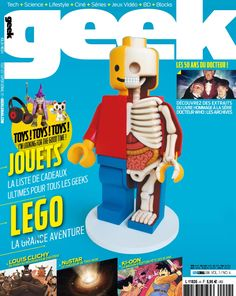 Geek Magazine - N° 4 - Novembre & Décembre 2014 Geek Magazine, Lego, Bart Simpson, Character, Doctor Who, Toy, Legos, Lettering