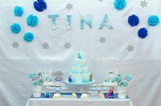 Frozen Party Frozen Party, Elsa, Birthday Cake, Desserts, Birthday Cakes, Deserts, Dessert, Postres, Jelsa