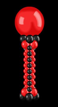 Red and Black Balloon column
