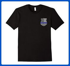 Mens Thin Navy Line Back The Police USA Flag Pocket Logo T-Shirt 2XL Black - Cities countries flags shirts (*Amazon Partner-Link)