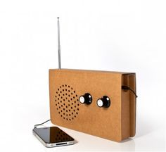 card radio classic -- Real FM radio made from cardboard, with MP3 input. $56.95CAD