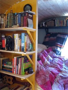 Swooning. The textures, the books, the cozy bed. Mmmmmm...