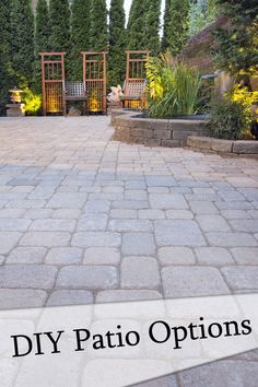DIY Patio Options - Great Ideas...these are the pavers we are considering