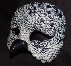 raku masks | Creamy Teal Raku Phoenix Mask by ~Mindslashed on deviantART