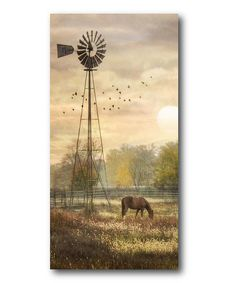 Premium Thick-Wrap Canvas entitled Berks Co. Horse grazing in a field beside a windmill at sunrise. Our proprietary canvas provides a classic and distinctive texture. It is acid free and specially developed for our giclee print platforms. Abstract Landscape Painting, Abstract Canvas, Landscape Paintings, Canvas Wall Art, Wall Art Prints, Poster Prints, Framed Prints, Canvas Prints, Impressionist Paintings