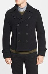 Burberry Brit 'Chesire' Trim Fit Double Breasted Wool Blend Jacket