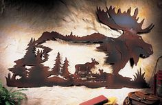Nature's Path Rustic Moose Woodland Metal Wall Art...I got a few of these they are a great value!