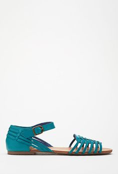 Woven Faux Leather Sandals | Forever 21 - 2000115646
