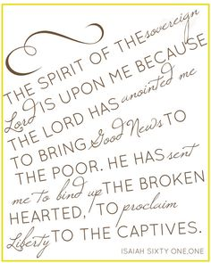 isaiah 611 8x10 print by NaptimeDiaries on Etsy, $12.00- Love this!  I would totally buy and fram to hang at home if it were in KJV.