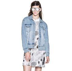 The New Way To Wear A Denim Jacket. Cheap Monday Boyfriend Denim Jacket,